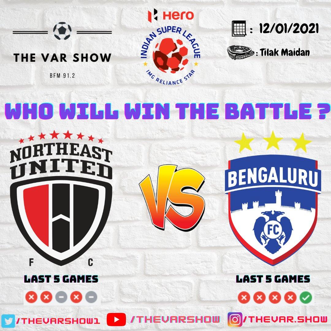 NorthEast United FC  VS Bengaluru FC   #northeastunitedfc #bengalurufc #westblockblues #HighlanderBrigade #indiansuperleague #LetsFootball https://t.co/OfnuP0kdrd