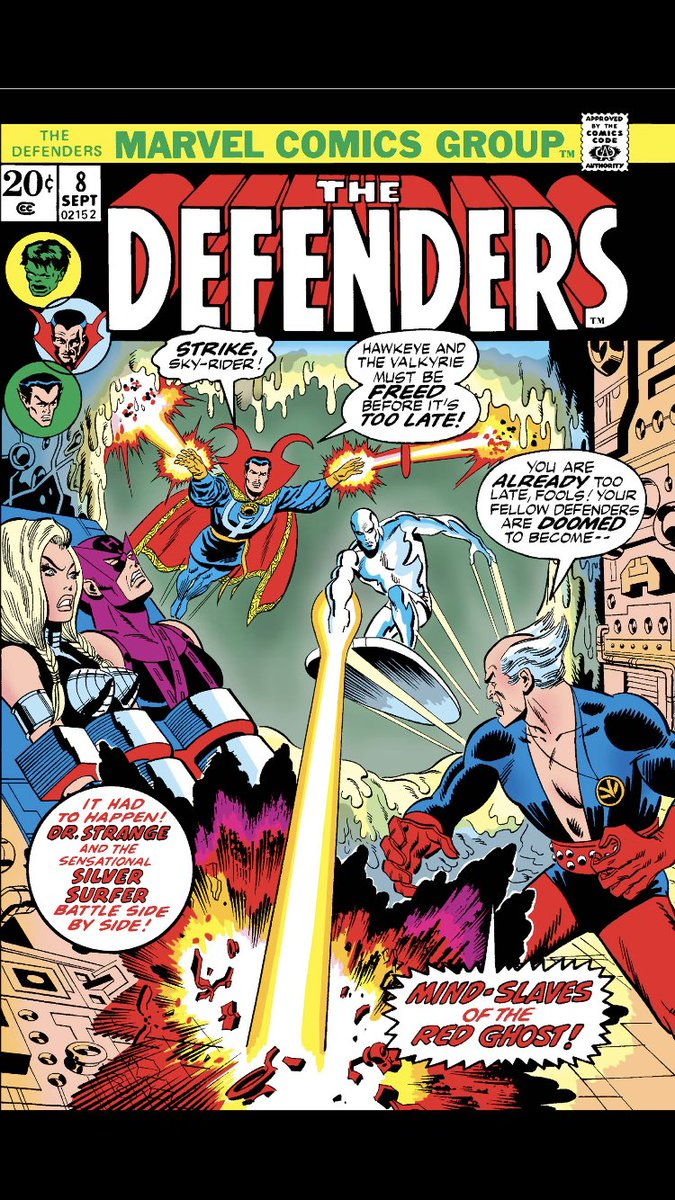 #comicbeforebed Defenders No. 8, September, 1973. Mind-controlled Namor attacks, Silver Surfer demands answers from Hulk, Black Knight says he's a-ok. 🤯💪👌 #Defenders #MarvelComics #MarvelUnlimited #digitalcomics @Marvel @MarvelUnlimited
