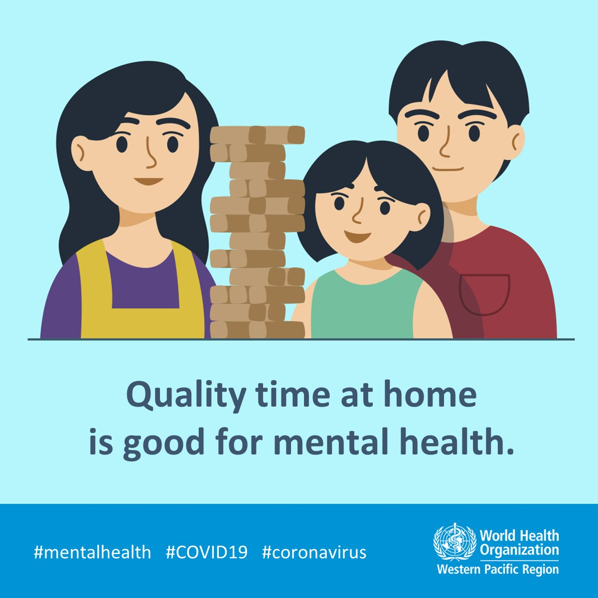 Look after your #MentalHealth during #COVID19: ⌛️prioritize quality time with family 🥗eat healthy meals, get plenty of sleep and exercise 📱 stay virtually connected with friends and family outside your household.  #coronavirus