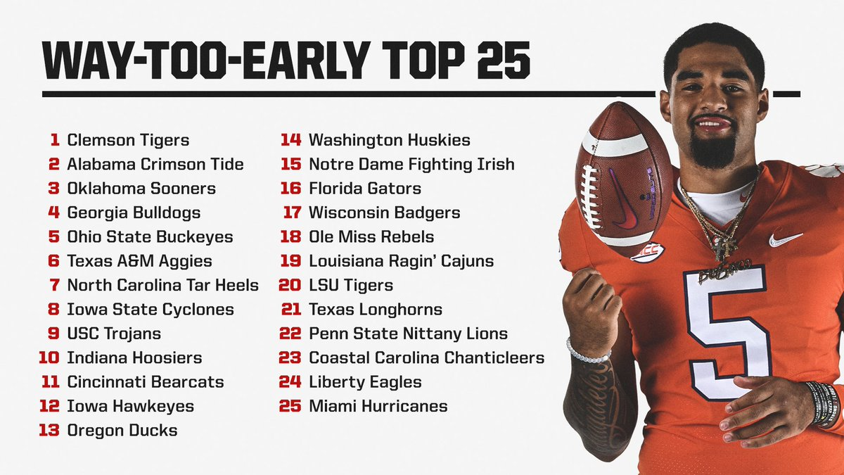 We're THAT excited 😆  Our Way-Too-Early top 25 for next year 🙌