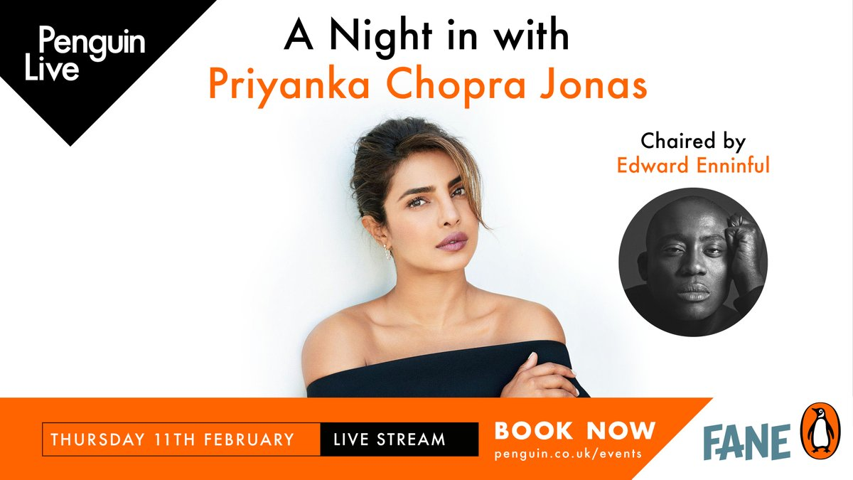 Special Guest Announcement: @priyankachopra will be joined by British Vogue Editor-in-Chief @edward_enninful OBE, live in conversation next month!  Get your ticket and tune into this exclusive online stream, celebrating Unfinished:  📙 @penguinlive