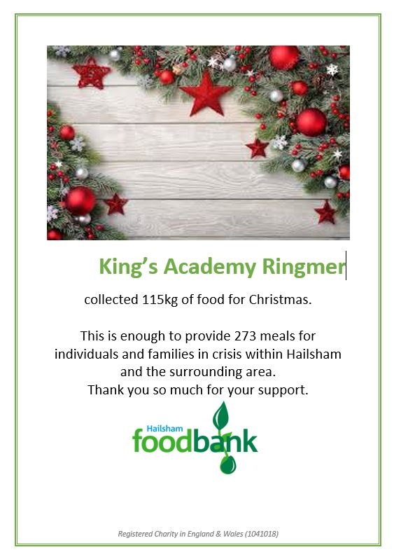 Thank you to all the parents, staff and students who contributed to our 12 days of giving Christmas appeal. You provided 273 meals for families in crisis...congratulations! #12DaysOfGiving #foodbanks #community