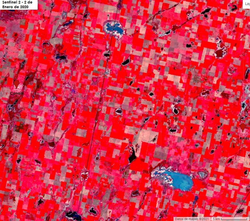 Desde Desat: Servicio de Análisis de Imágenes Satelitales, compartimos algunas imágenes de las localidades que son puntos de venta de Desab. En esta oportunidad podemos ver las localidades de Canals y Arias, Provincia de Córdoba. #desat #somosdesab #canals #Arias