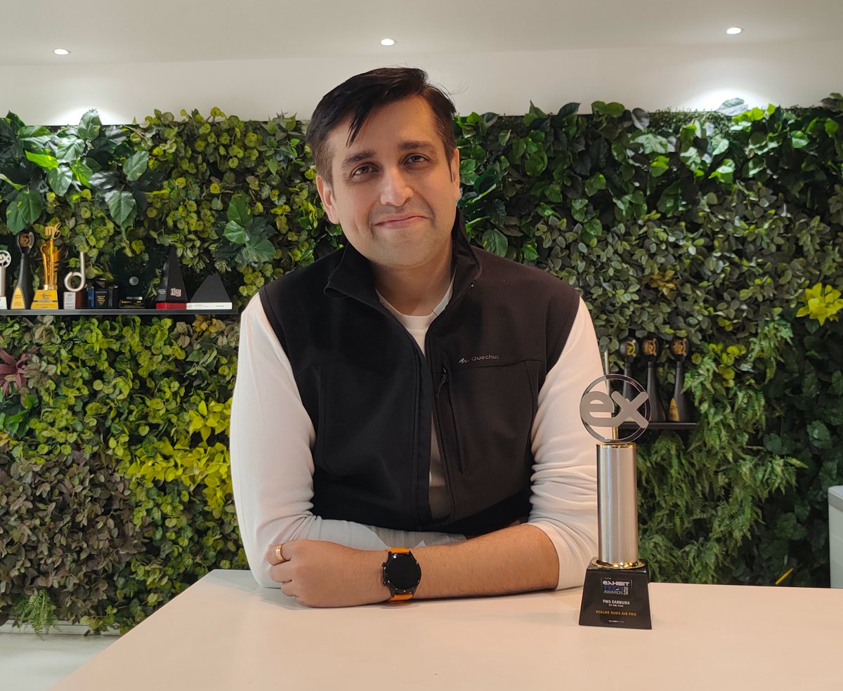 Grateful to @exhibitmagazine for honouring #realmeBudsAirPro with TWS Earbuds Of The Year Award. 🏆   #ExhibitTechAwards2020