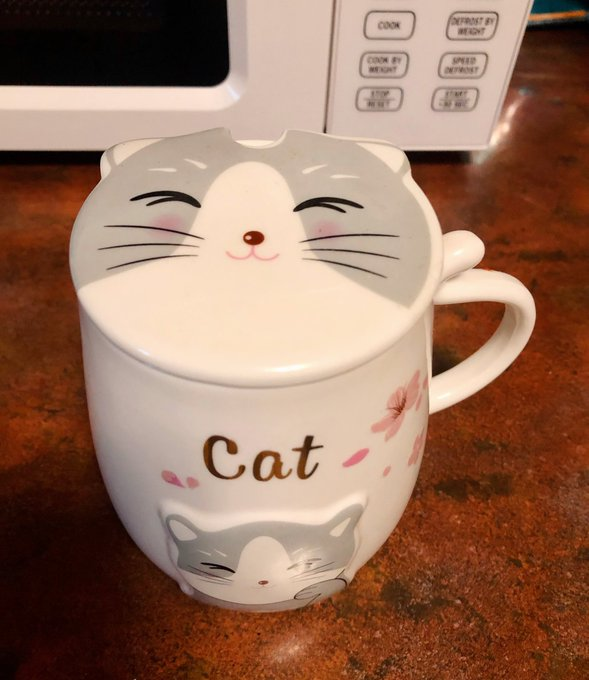 1 pic. My sister gave this tea cup to me , look how adorable it is ! 😻 I can use it both as a cup or