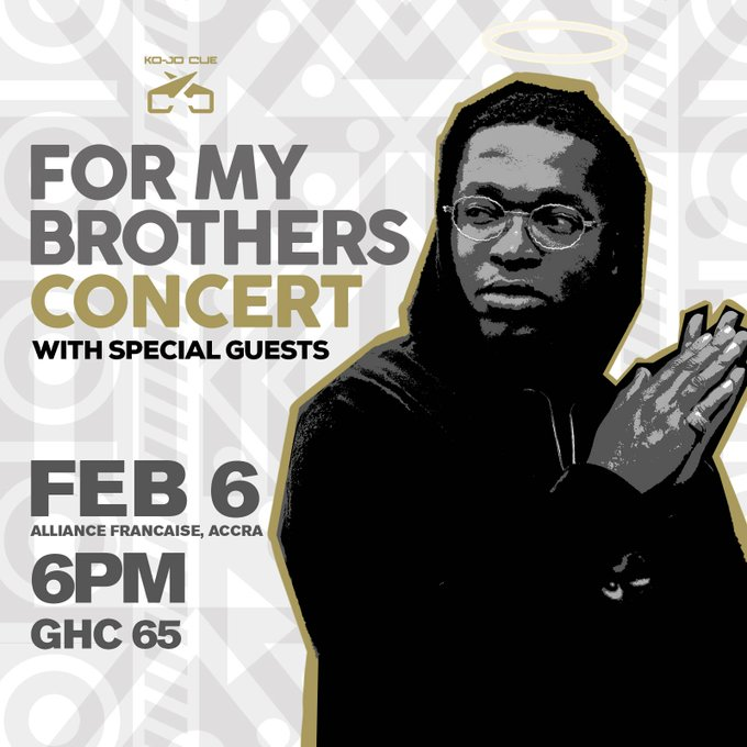 "Ko-Jo Cue announces date for the maiden ""For My Brothers Concert"""