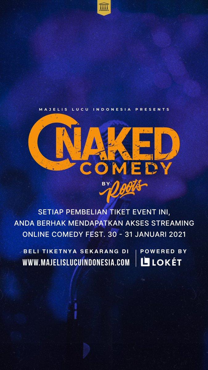 Kado awal tahun bagi umat lucu Bandung!  Buat yang membeli tiket Naked Comedy Bandung, anda akan mendapatkan tiket Online Comedy Fest!  Beli tiketnya di