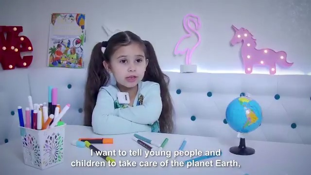 """""""This is a home to all the animals and plants, so we should make sure it doesn't overheat.""""  Patricia, a 6-year-old from Moldova, is already thinking about the planet. @UNDP's is using #Mission1Point5 to teach children like Patricia around the globe about #ClimateAction. 🧒🏻 👧🏾 👦🏼"""
