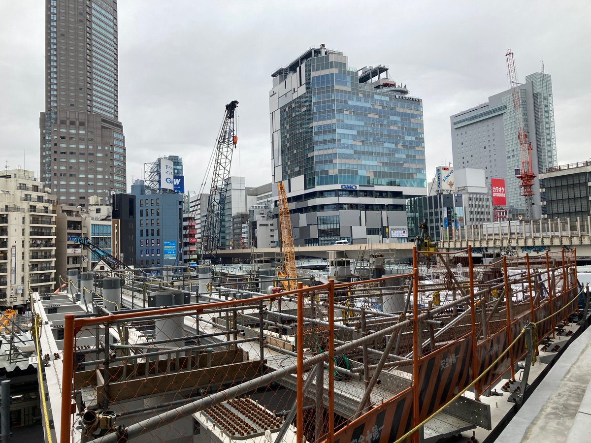 Shibuya...an eternal construction site. Or at least until 2027...🙂 #Shibuya