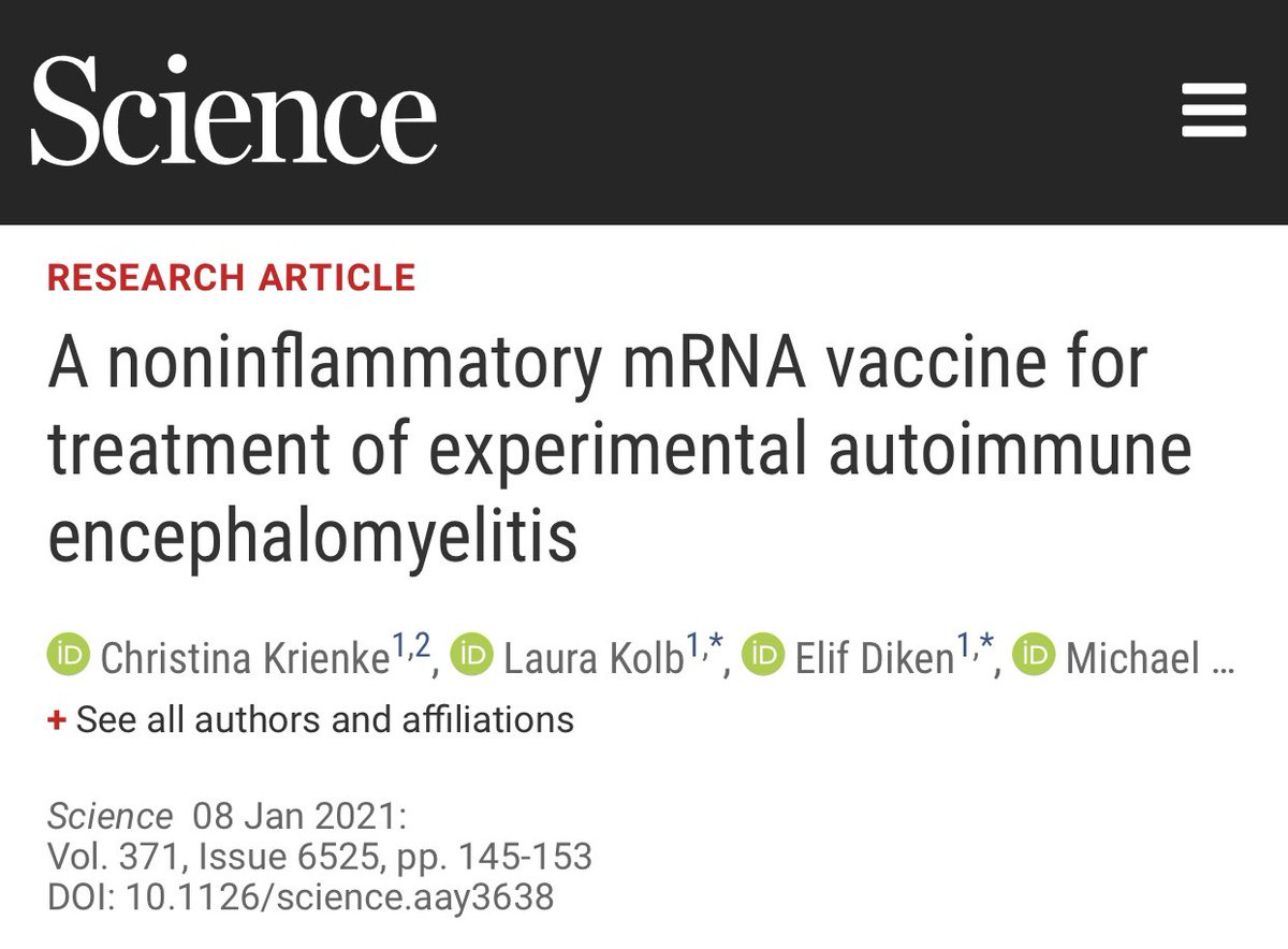 FANTASTIC NEWS—A potential vaccine for multiple sclerosis is now within sight on the horizon! And it's an mRNA vaccine by BioNTech, maker of the Pfizer #COVID19 vaccine. Study in mice shows great promise for improving symptoms & stopping MS progression!