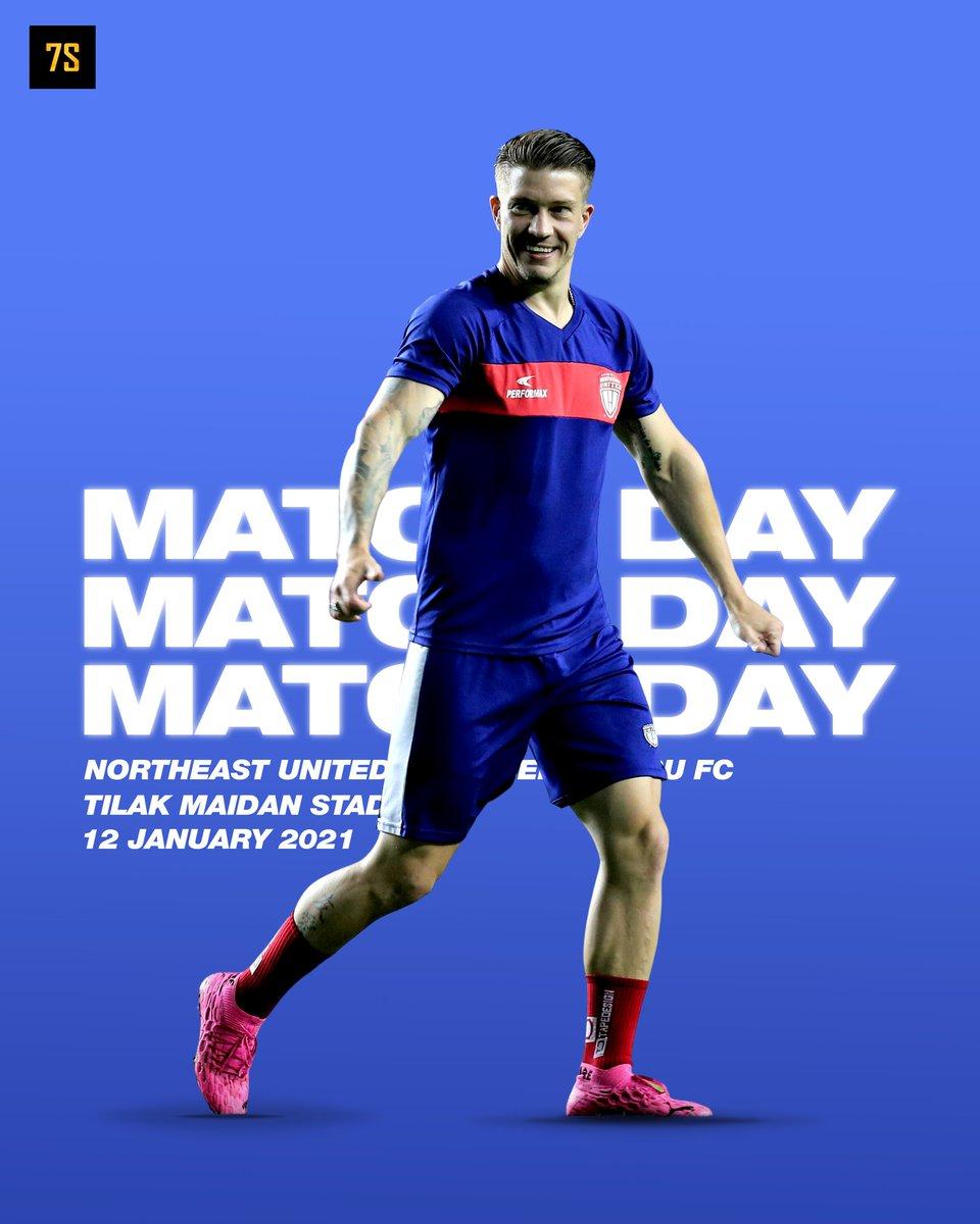 It's MATCHDAY !!! 🤘  🆚 NorthEast United FC vs Bengaluru FC 🏆 Indian Super League  ⏱️ 12 Jan - 7:30 PM IST 🏟 Tilak Maidan Stadium   #ISL #NEUBFC https://t.co/dVT6tEKw8I