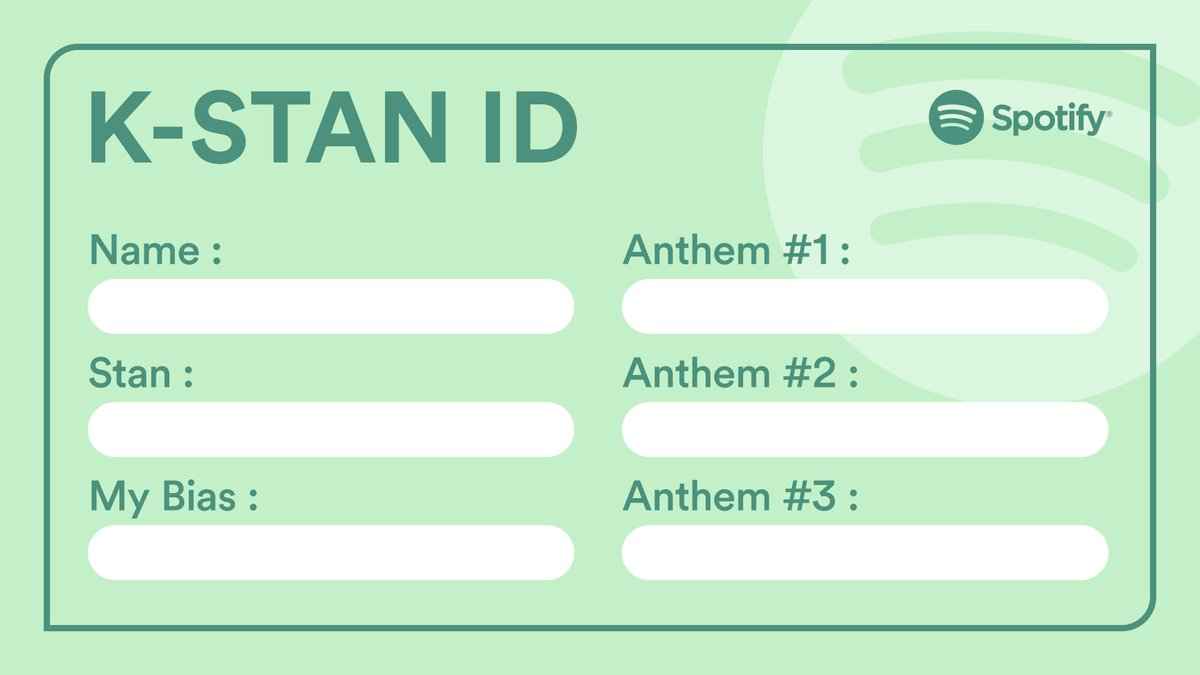 Make your love official with our K-Stan ID cards.  Who you lovin'? What you singin' to? Fill it up and post with pride ✨  https://t.co/631bgGdyrR https://t.co/nb9KM2zA8a