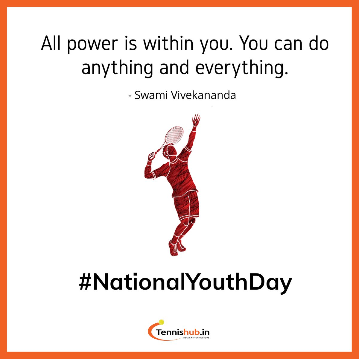 Paying tributes to Swami Vivekananda whose birth anniversary is celebrated as National Youth Day for his focus on youth.🇮🇳   #nationalyouthday #swamivivekananda #indiansports  #indiasports #Tennis