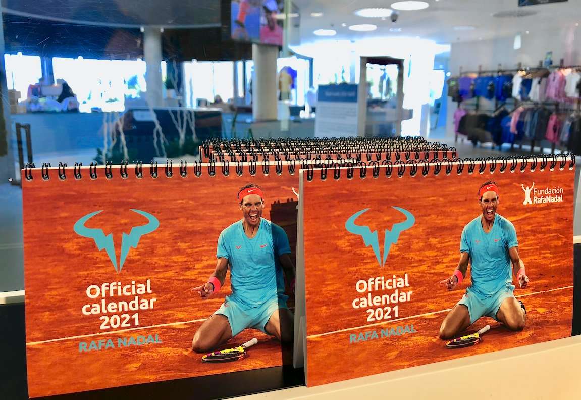 ¡Aún estás a tiempo! Tenemos 12 meses por delante para disfrutar del calendario oficial de @RafaelNadal 2021 🗓️ ... You are still on time! We have 12 months ahead to enjoy the official calendar of #RafaNadal 2021 🗓️