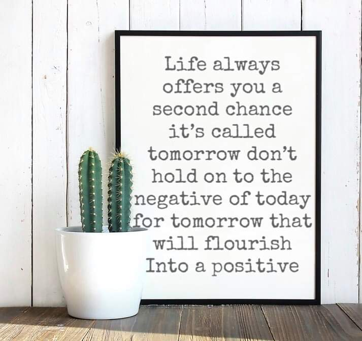 gastropascoe - Gastro's quote of the day; Life always offers a second chance its called tomorrow don't hold on to the negative of today for tomorrow that will flourish into a positive 💚 I love this quote 💚