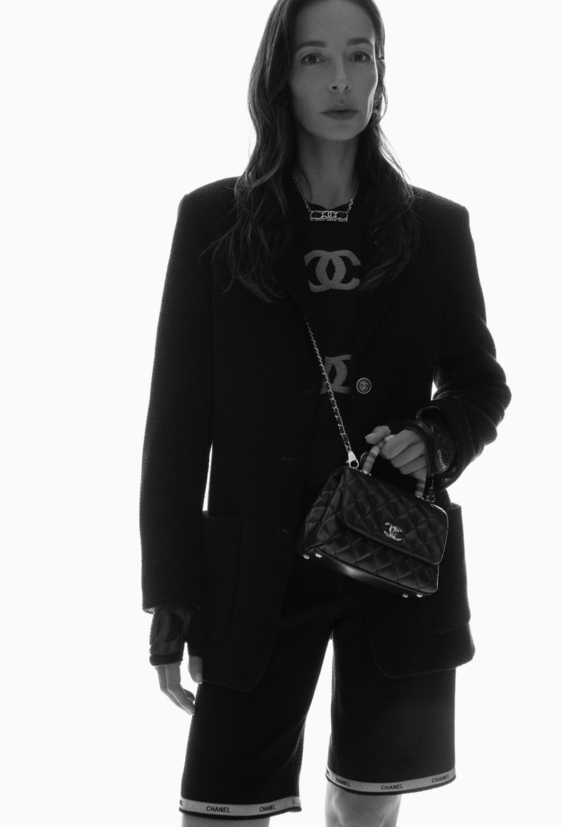 In-House model Amanda Sanchez brings the elegant yet relaxed silhouettes of the CHANEL Spring-Summer 2021 pre-collection to life. Photographed by Tim Elkaïm. Now available in boutiques. #CHANELSpringSummer #CHANEL See more on