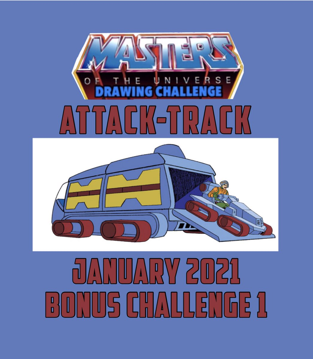 NEW MASTERS OF THE UNIVERSE DRAWING CHALLENGE BONUS CHALLENGE   💥Attack Track   Bonus Challenge 1 January 12, 2021  #motudrawingchallenge #mastersoftheuniverse #attacktrack #heman #skeletor #motu #motufanart #motuart