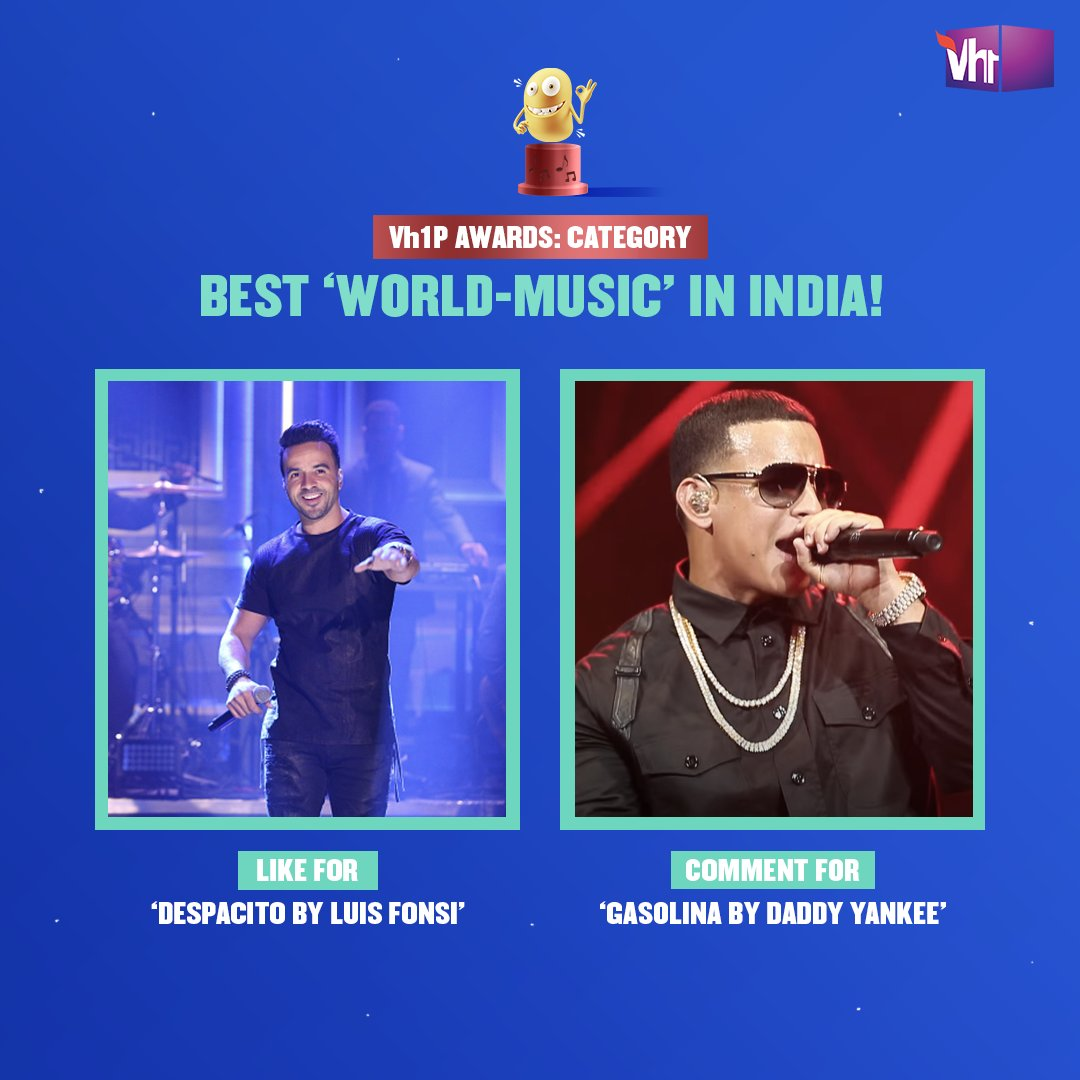 The lyrics had us guessing but the beats had us movin'! 🌎 Celebrate 16 years of Vh1 with #Vh1PAwards, like or comment now to make your favorite win.    #Vh1India #GetWithIt #LuisFonsi #DaddyYankee @LuisFonsi @daddy_yankee