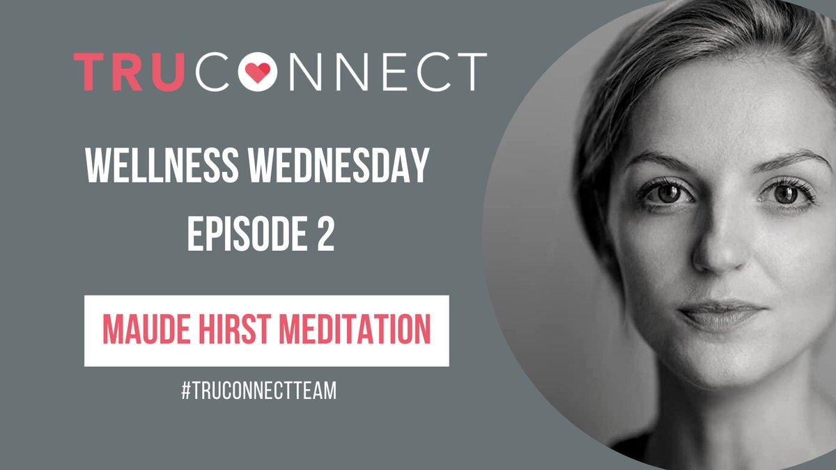EPISODE 2 of our #WellnessWednesday IGTV series is going LIVE tomorrow 3pm GMT on our Instagram page 'fitness' 🙌  Join us for a very special #meditation session with @maudehirst  🧘‍♀️  #TRUCONNECT #TRUCONNECTTeam