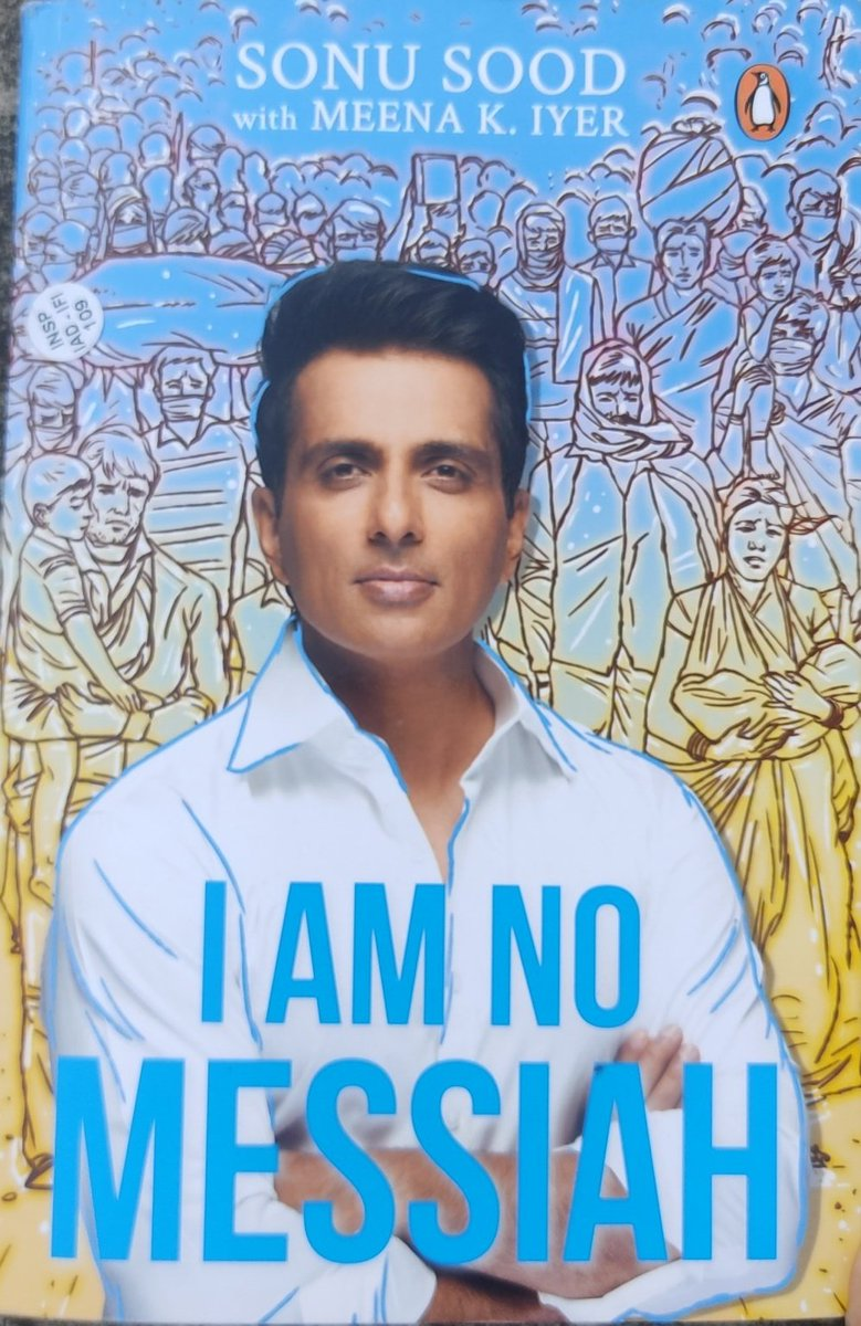 Feeling blessed to read this @SonuSood sir. It's been an overwhelming pleasure to read your book. Boosted wid good vibes of all time. #iamnomessiah . I bow to your every work during d pandemic. Thanks for all your tireless efforts to help the underprivileged. 💯❤
