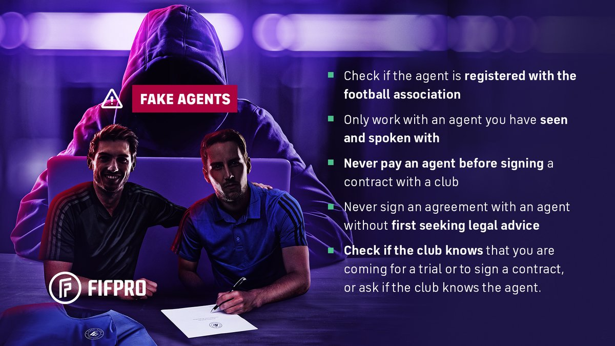 Fake agent alert: 🚨 we received information from Norway that Martin Kois is approaching young players with an offer for a trial abroad.  To all players: don't believe Martin Kois, he is a scammer! He also uses the name Martin Blatny.  More👉