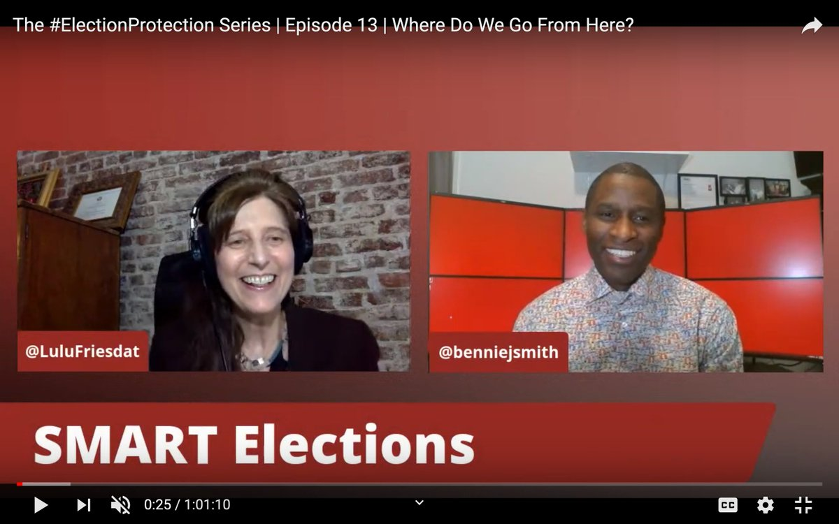 Tonight! A fascinating & timely forum.  #HR1 is before Congress now. Possibly the most transformative legislation for our elections in years. @jenniferahearnk of @CREWcrew explains the bill.  + #ElectionSecurity on the line  On YouTube  #ElectionProtection