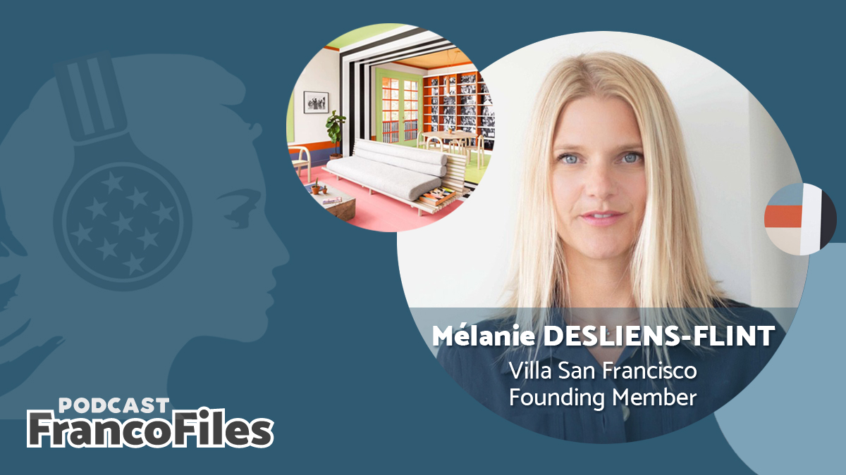 🎙IT'S HERE!🎙 For the 1️⃣st episode of #Season2 of @francofilespod, our team has a #RendezVous with Melanie Desliens Flint of the international @VillaSanFranci3. Hear about her work with 🇫🇷 & 🇺🇸 artists in California. 🎧 Listen NOW: