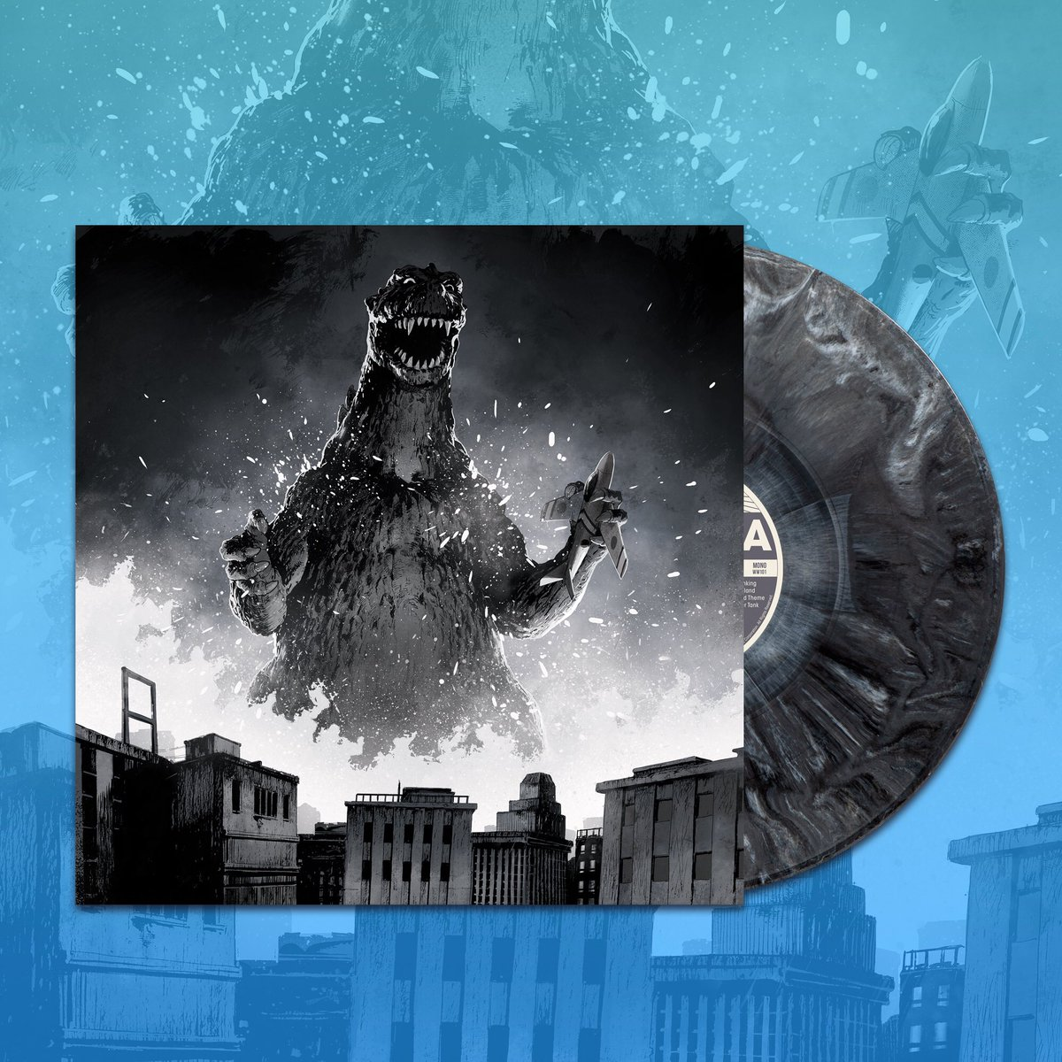 GODZILLA: The Showa Era Soundtracks 1954-1975 Box Set is On Sale Now! Includes all fifteen classic soundtracks spanning eighteen 180 gram colored vinyl records!