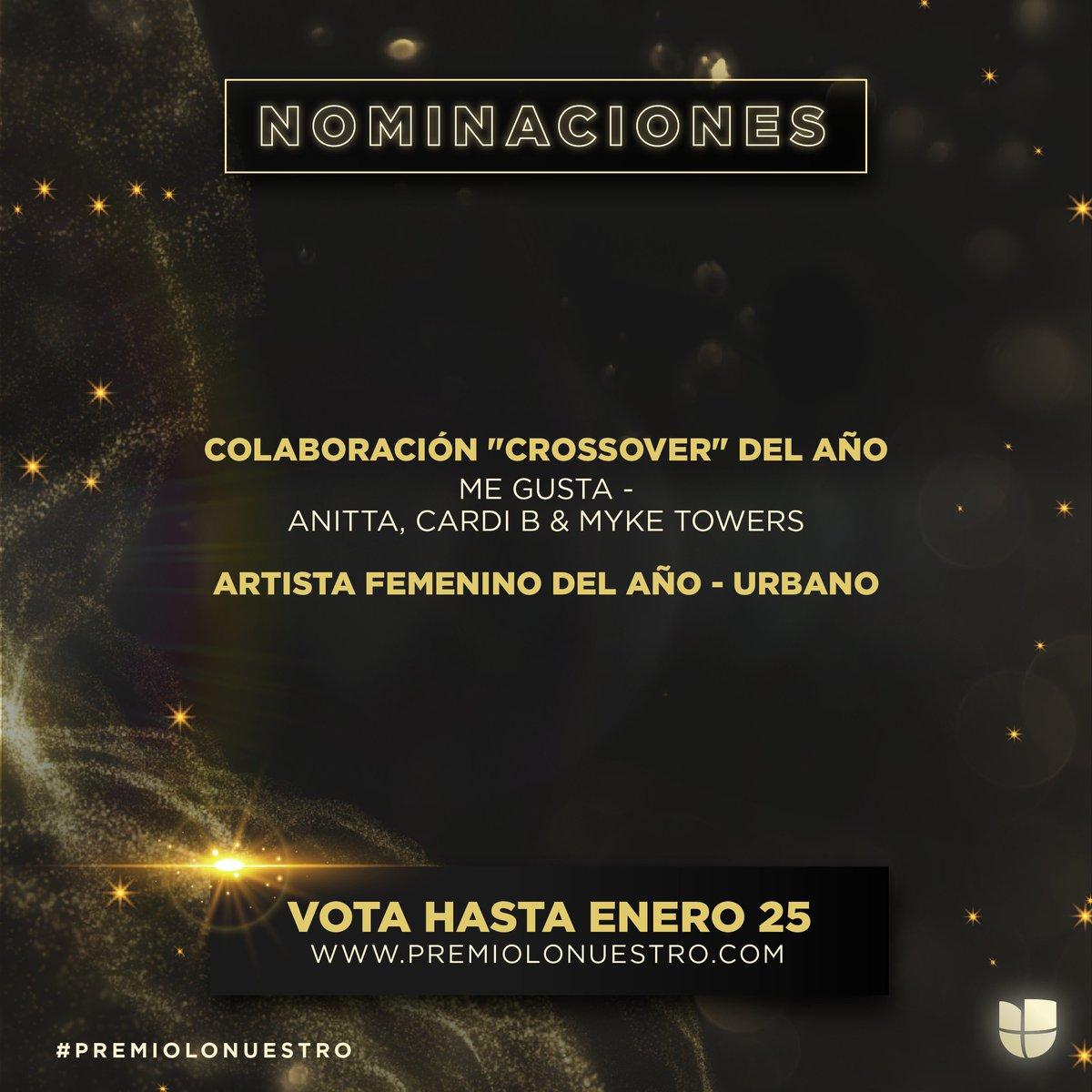 2021 started with two nominations at the @premiolonuestro! ❤️ Thank you so much! You can vote until January 25th!  ¡2021 empezó con dos nominaciones al Premio Lo Nuestro! ¡Gracias por eso! ¡Ya pueden votar hasta el 25 de enero!