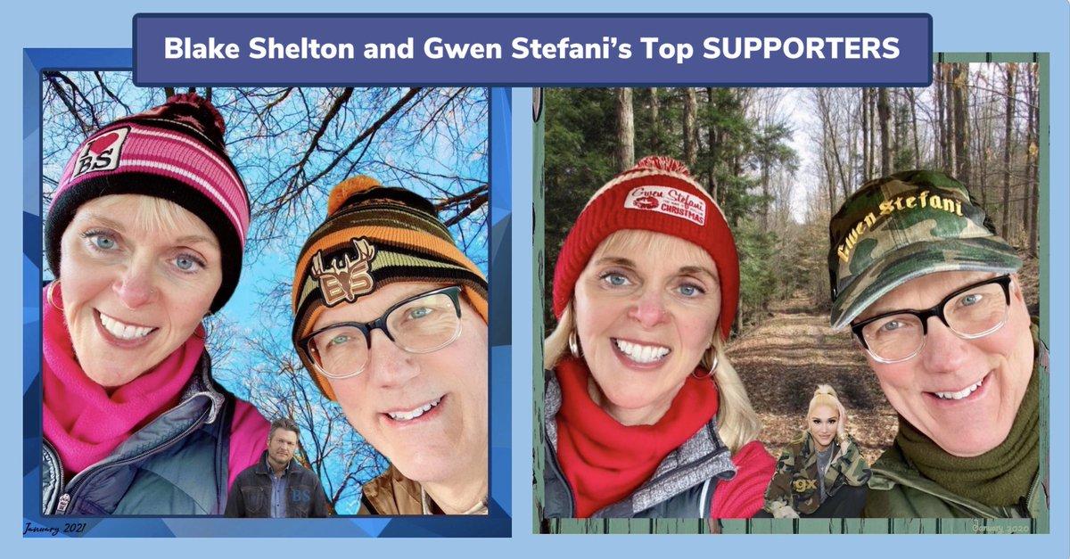 @gwenstefani and @blakeshelton my husband and I love to hike in our most favorite hats! Do you guys like the look? #HappyAnywhere #LetMeReintroduceMyself #shefani @gwenfreakgx @OleRed @lanikaibeachluv #MinimumWage #GodsCountry