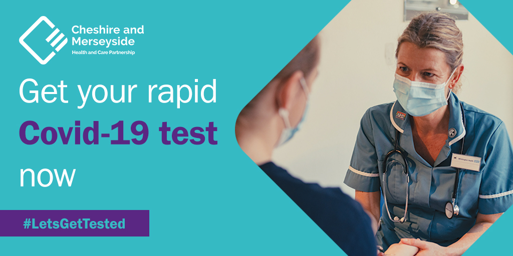 People who must risk leaving their homes & mixing with others during this lockdown, such as NHS & care workers, school staff & supermarket employees are being urged to keep getting repeated tests for #Covid19 within the Liverpool City Region  #LetsGetTested