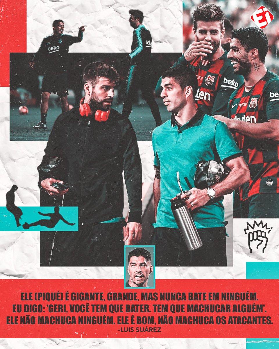 QUE ISSO, FILHO? KKKKKKK! Se liga no que Suárez falou sobre Piqué, ainda na época de Barcelona, durante documentário sobre o time! E aí, concorda? #Barcelona #Suárez #Piqué  Crédito: Documentário 'Matchday: Inside Barcelona'