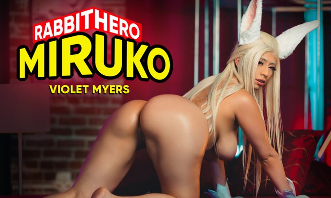 Violet Myers @violetsaucy as Rabbit Hero Miruko! 😜 Coming in a couple of days on #SexLikeReal! #VRporn