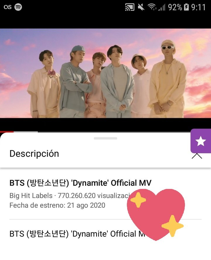 """""""Dynamite"""" MV alcanzo 770M de vist@s en Y0utub€!  Estamos cada vez más cerca de los 800M,sigamos transmitiendo ARMY!  #DynamiteTo800M #BTS_Dynamite  #상탄소년단"""