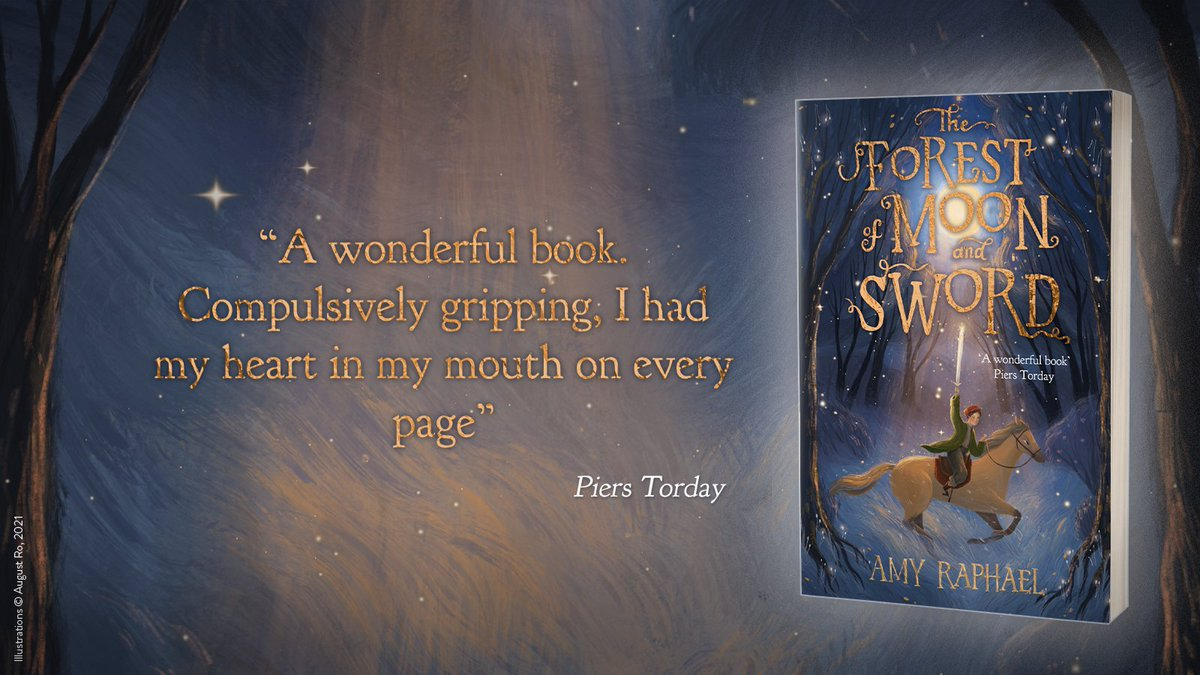 The Forest of Moon and Sword is a thrilling adventure of courage and friendship written by @amy_raphael. Perfect for readers 9+ and fans of The House with Chicken Legs  Signed:   AMZ:  Bookshop Org: