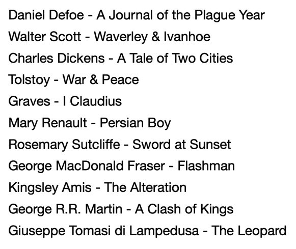 As promised, a small selection of the books @holland_tom and @dcsandbrook mentioned on Monday's podcast...