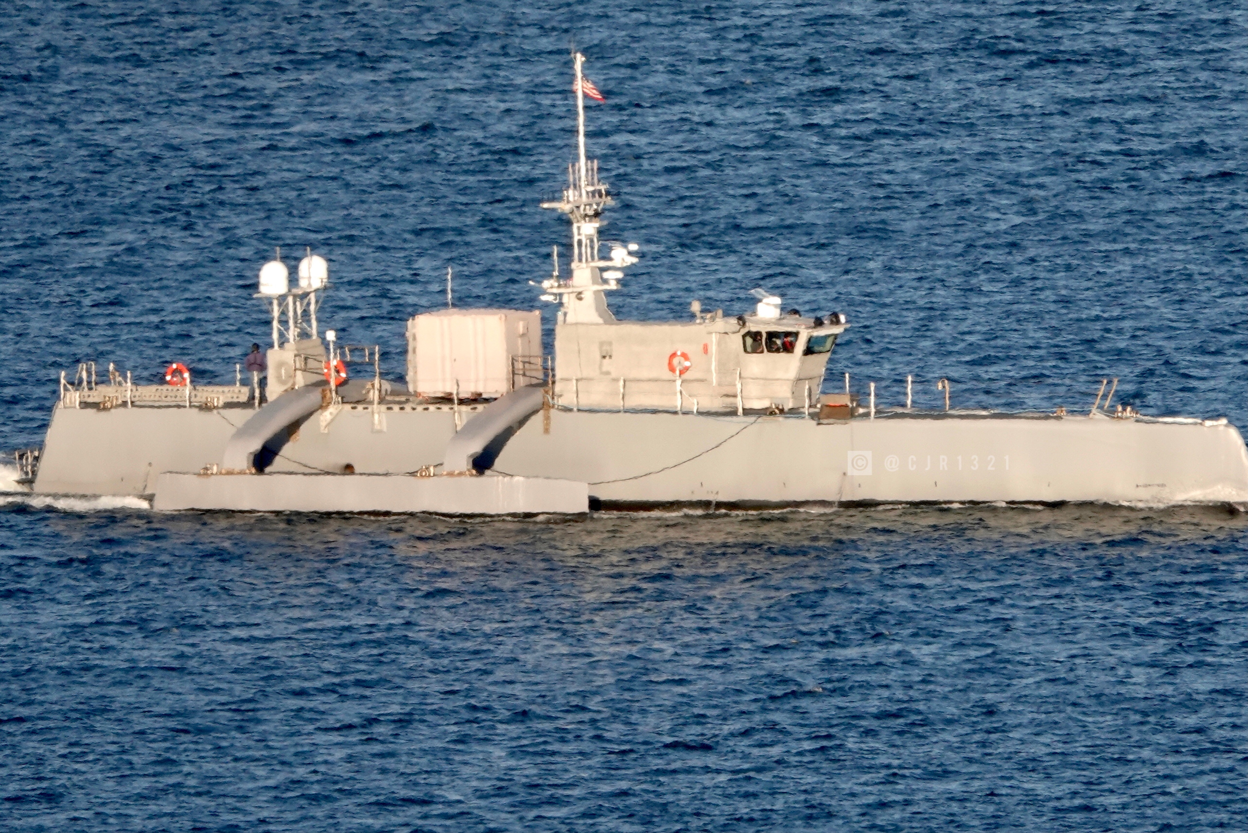 US Navy's drone ship