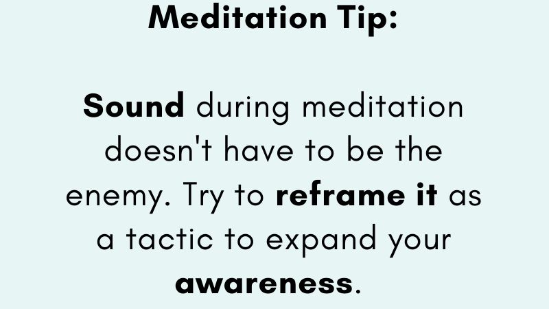 Can you let go of the need to curate the perfect (read quiet) meditation environment? Use the rising and passing away of noise to sharpen your attention. It's a feature! 😉