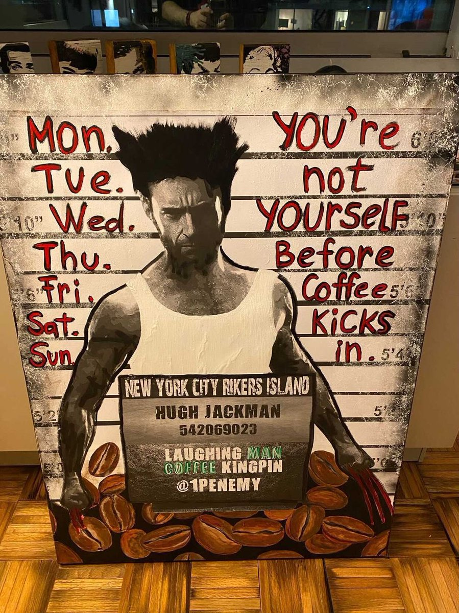 But first, coffee. @laughingmanco #1PENEMY