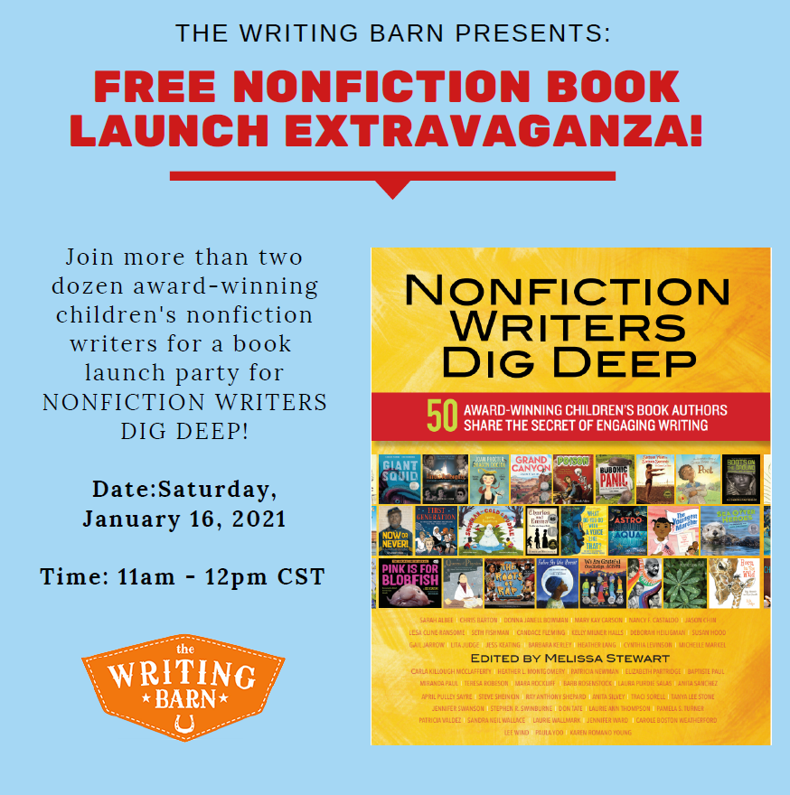 There's still time to register!  Join 26 leading nonfiction authors for a book launch hosted by the @TheWritingBarn