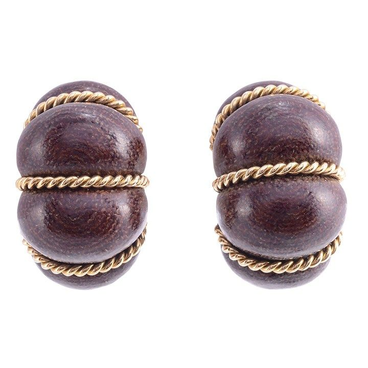 These unique and beautiful earrings are created in exotic wood and 18K gold! https://t.co/cRugGpxEkG #solvangantiques #woodjewelry #uniquegifts https://t.co/ZFxOcBqzvY