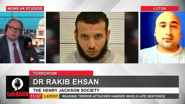 """Khairi Saadallah has been jailed for life for murdering three men in a terrorist attack in Reading, weeks after being released from jail. Dr Rakib Ehsan from the Henry Jackson Society says the fact he was free to kill shows a """"fundamental systems failure"""". @Iromg   @rakibehsan"""