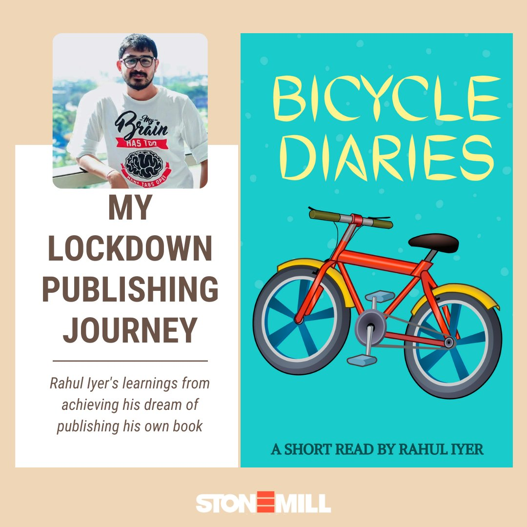 Rahul Iyer had a dream of becoming a best-selling author! With the lockdown announced, he decided to put his writer's hat on & start typing.  700 words turned to 5000 & Bicycle Diaries was born. Read his #selfpublishing journey on .  #bicyclediaries #ebook