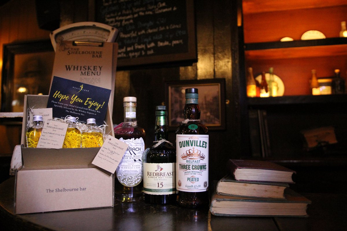Make sure to head to our website to get our Irish Whiskey Boxes. Great way to enjoy a selection of Irish Whiskeys in the comfort of your own home. Each box comes with a tasting video with our whiskey expert so you have the full Shelbourne Experience.