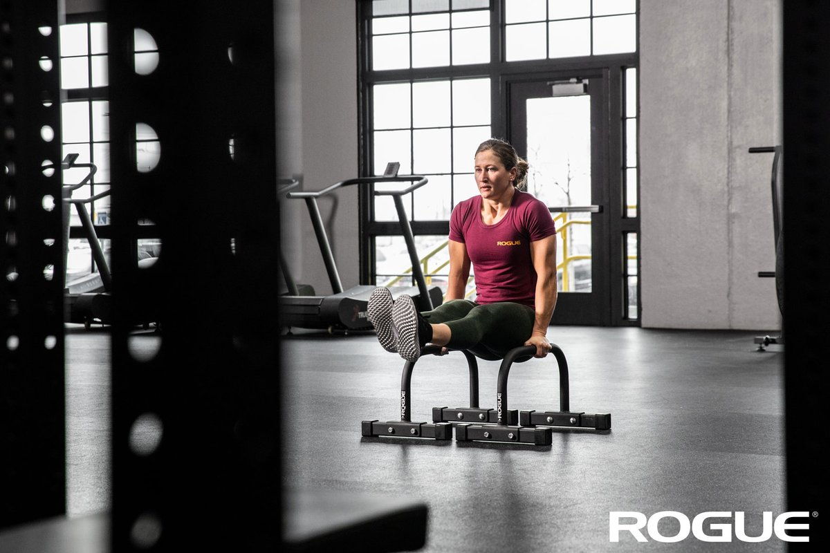 Add L-Sits to your core training. #ryourogue  Shop the Rogue Bolt Together Parallettes: