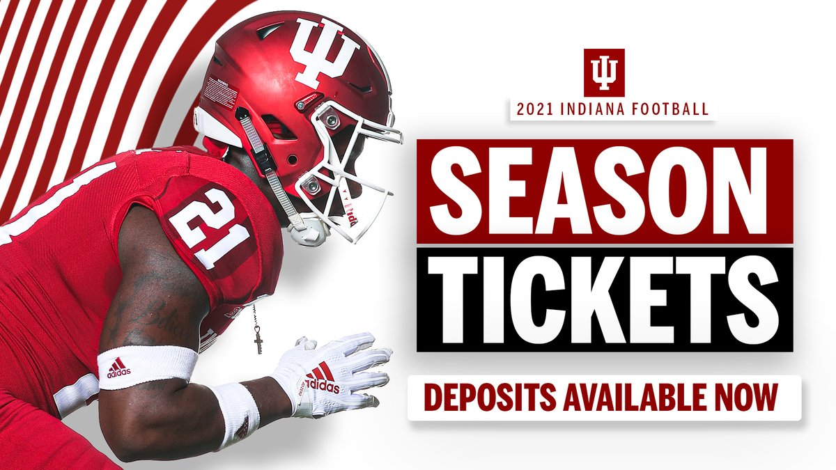 Looking forward to the 2021 fall football game days & hopefully welcoming our fans back into Memorial Stadium‼️  📱 Text IUFB to 812-855-4006 to place your 2021 @IndianaFootball season ticket deposit TODAY.  *Current STHs do not need to place a ticket deposit.