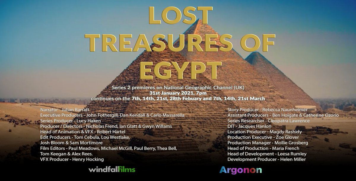 Argonon On Twitter Series 2 Of Lost Treasures Of Egypt Premieres 31st January At 7pm On Natgeo Uk