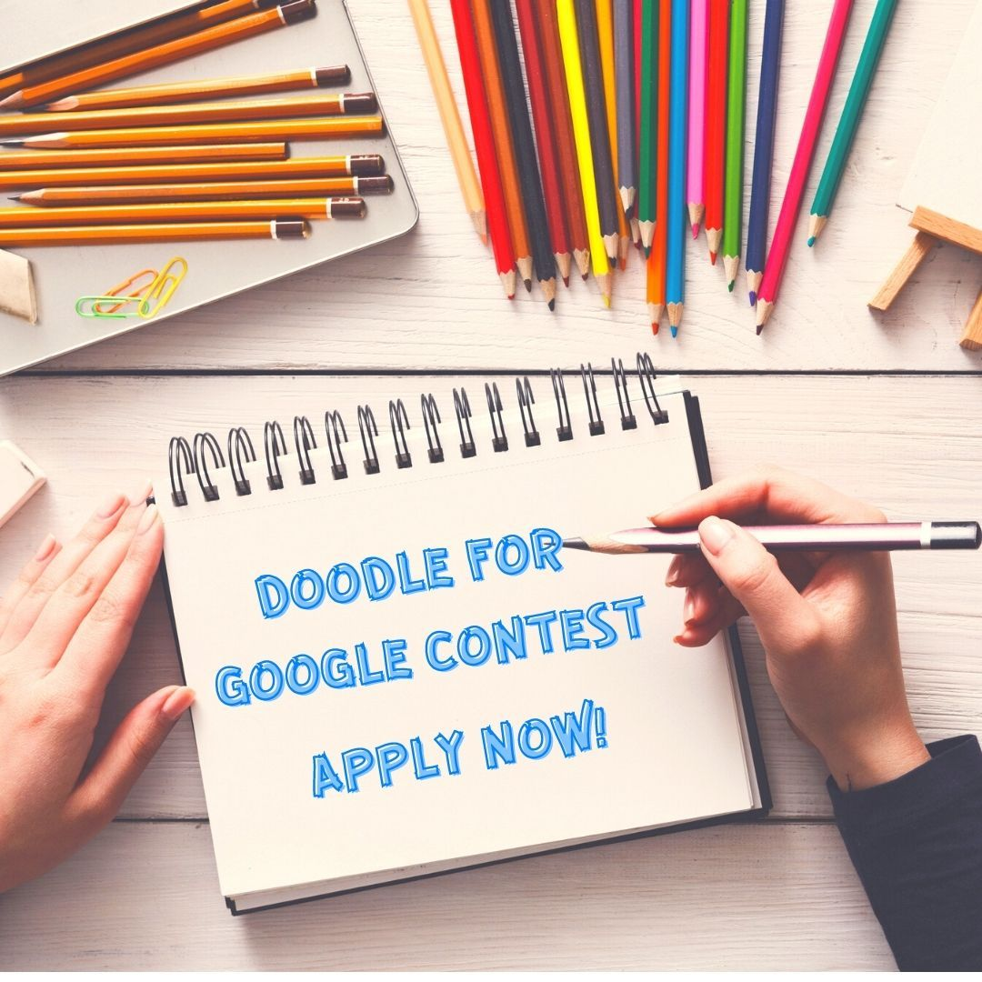 The Doodle for Google contest is open! 🎨 The national winner will receive $30,000 scholarship & $50,000 tech package for your school/nonprofit & your artwork will be displayed on Google's homepage. 🙌 Submit your Doodle before Feb. 26:  #DoodleForGoogle