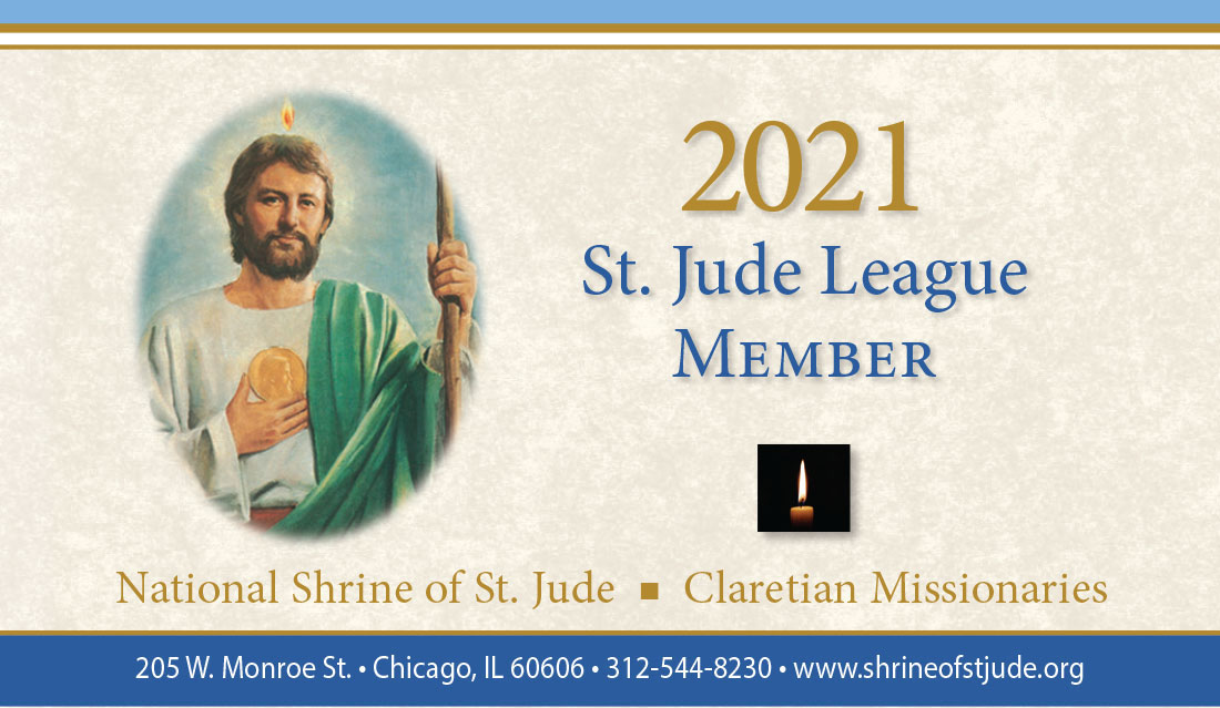 There's still time to send your petition and reaffirm your membership in the St. Jude League for 2021:  - #petition #prayers #intention #prayer #intercession #membership #member #devotion #stjude #saintjude #catholic #catholicism #catholicfaith #saint #pray