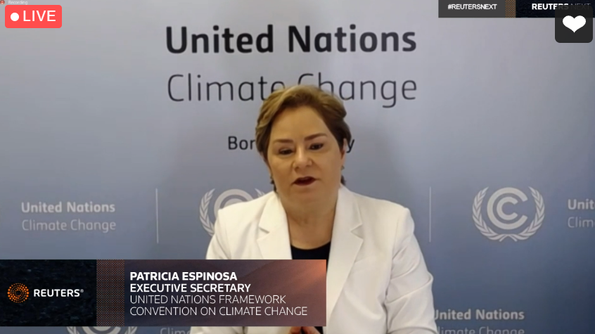 ".@PEspinosaC at #ReutersNext interview: ""We have received only around 75 NDCs (national climate action plans under the Paris Agreement) out of around 200. This shows that the climate agenda is presently not at the level of priority it needs to be."""